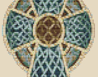 CROSS STITCH KIT- Celtic Cross 13cm X 18 cm