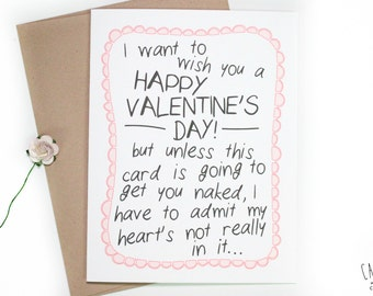 Funny Naughty Valentine's Day Card: Get Naked - Valentine's Day - Greeting Card - Funny