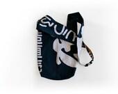 Japanese fabric cross body bag reversible cross body bag indigo messenger boho bag