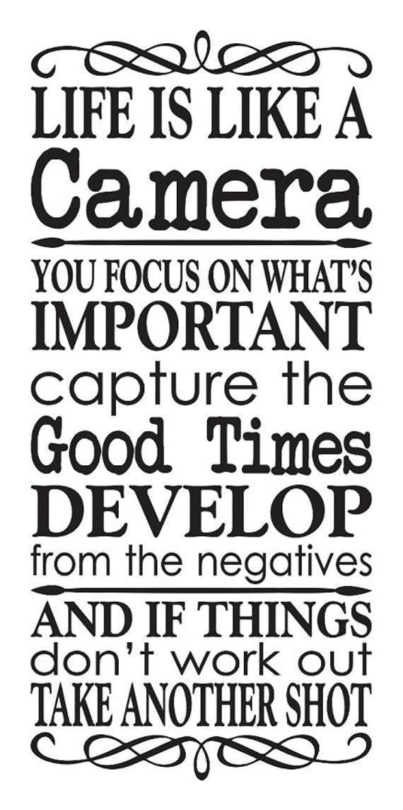 inspirational stencil   life is like a camera   12 u0026quot x24