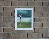 "8X10 Original Oil Painting Print ""Wet Sand"""