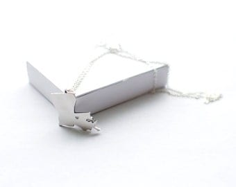 SALE!!!  dollars discount from old price!!!State Necklace! State of Luisiana Necklace! Sterling silver chain