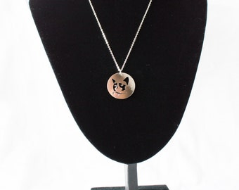 SALE!!! 5 dollars discount from old price!!!Grumpy cat necklace! Sterling silver chain