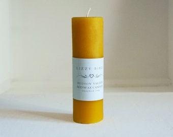 One Beeswax Pillar Candle, Pillar Candle, Tall Pillar, Color Beeswax Candles, Custom Colors, Long Pillar, Beeswax Pillars