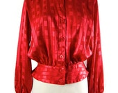 SK & Company Long Sleeves Red Blouse