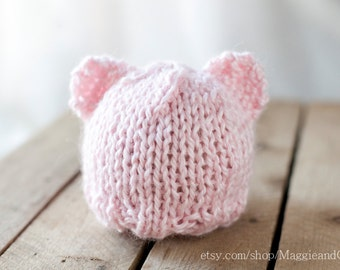 Bear Hat Newborn, Newborn Knit Hat, Alpaca Hat, Photo Prop, Newborn Hat, Newborn, Knit Hat, Newborn Animal Hat, Newborn Bear, Bear Hat