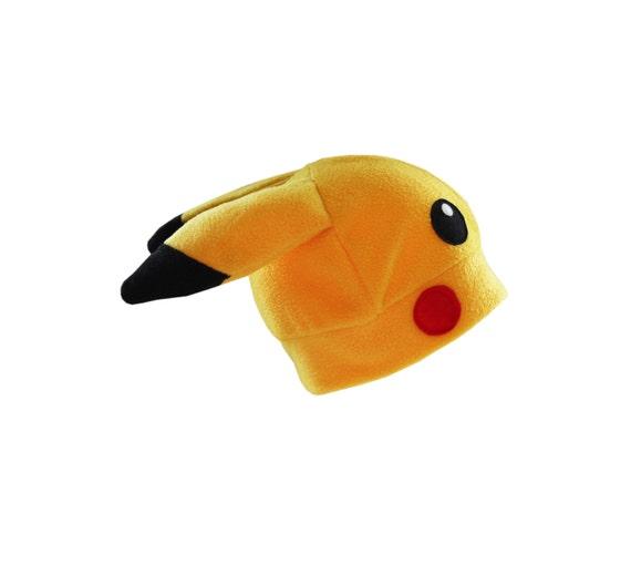 pikachu inspired yellow fleece hat
