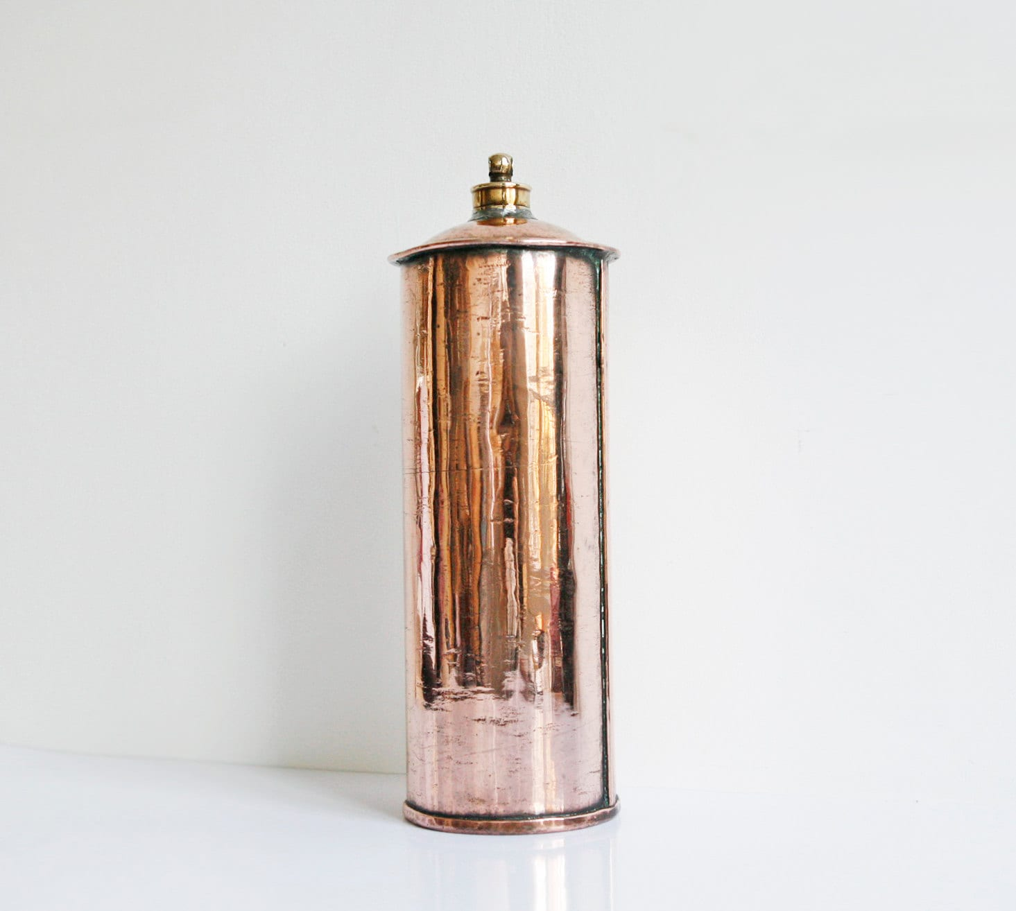Copper hot water bottle antique french decor french country for Decor water bottle