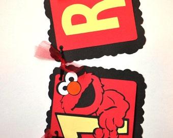 Elmo Birthday - Any Age - Elmo Birthday Banner - Custom Elmo Banner - Personalized Elmo Birthday Banner - Custom Birthday Banner