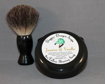 Tallow Shaving Soap - Jasmine & Vanilla - Warm florals, great for men or women