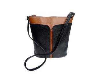 90s LOIS Bucket bag // Leather 90s bucket bag // 1990s bucket bag
