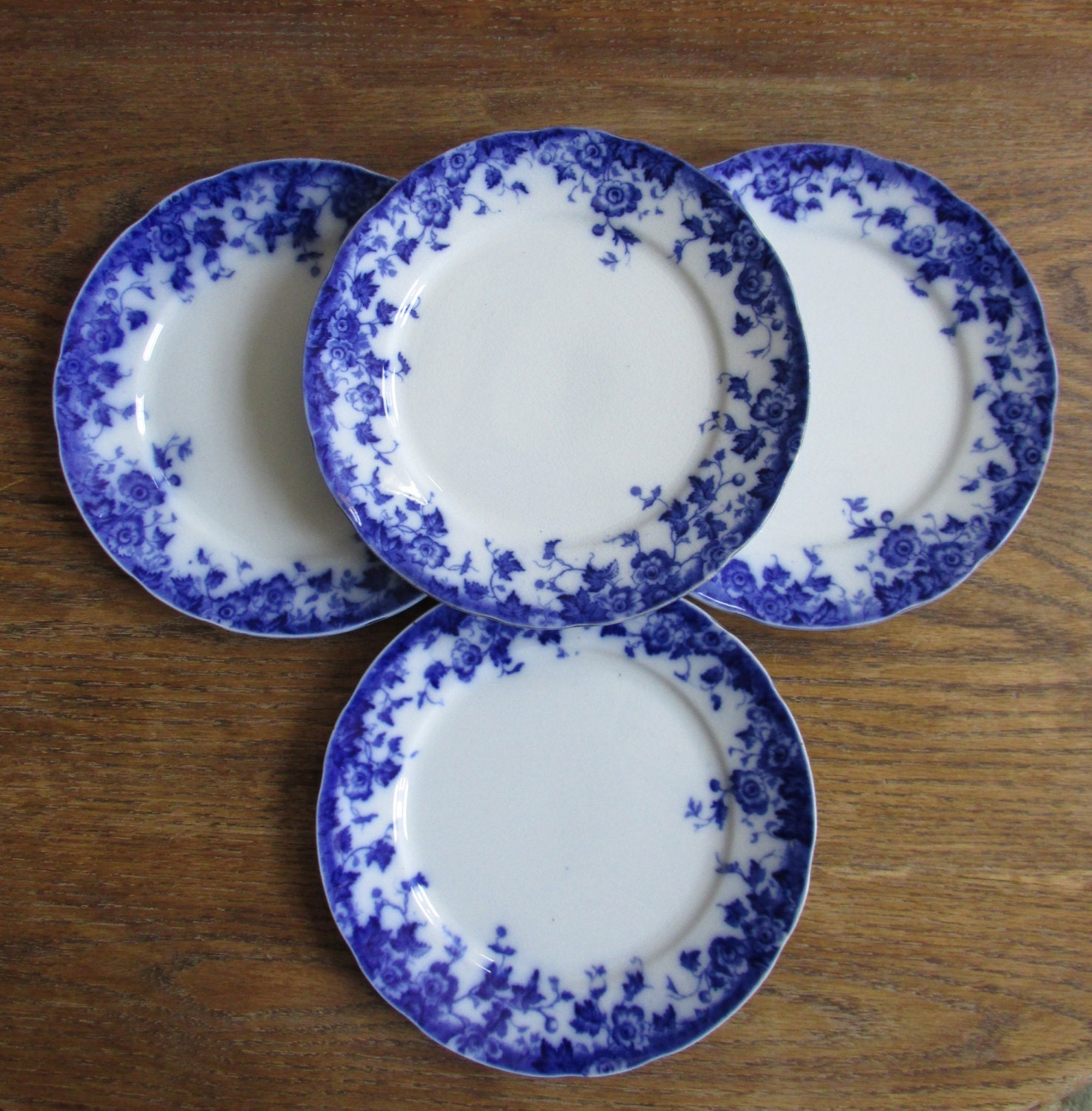 Antique burgess and leigh flow blue plates by shopthehyphenate