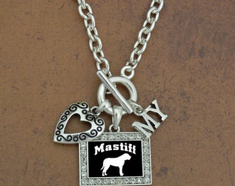 Heart My Mastiff Necklace