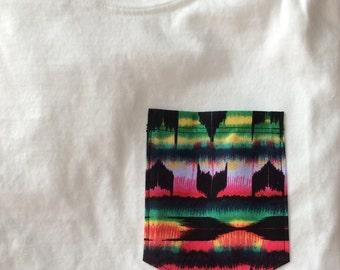 Tribal Aztec Print Pocket Tank, Tee, V-Neck, or Long Sleeve Shirt