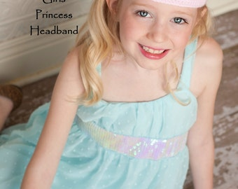 Instant Download Crochet Pattern - Princess Crown Headband - Sizes Newborn to Adult - Disney Princess