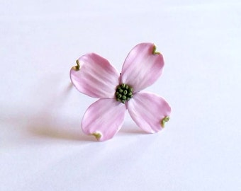Pink Dogwood Hair Pins, Bridal White Hair Flowers, Hair Pins, Flowers