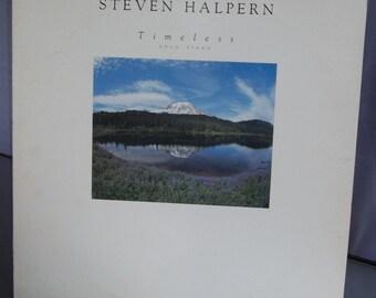 Steven Halpern,Timeless, Vintage Vinyl Record Album, Vinyl LP, Anti Frantic, New Age Music, Solo Piano Music, Obscure Record Album