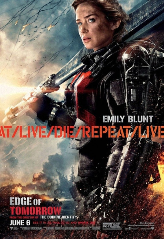 Emily Blunt - Edge of Tomorrow Poster V016  V199303