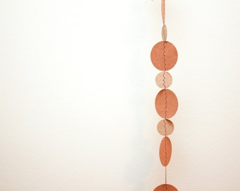 Circle Garland Banner, Recycled Brown Cardboard Decorative Garland