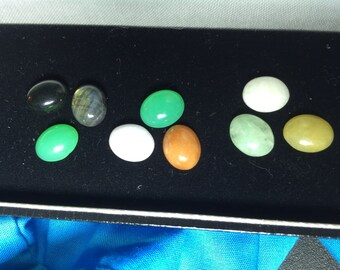 9 Loose Oval Cabochon-Shape Gemstones  = 21.00 cts total weight