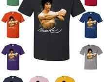Bruce Lee Licensed T-shirt Bruce Lee Figure Kung Fu Martial Arts Master Shirt 92