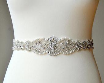 "16-37"" Crystal Luxury Bridal Sash,Wedding Dress Sash Belt, Rhinestone Sash, Rhinestone Bridal Bridesmaid Sash Belt, Wedding dress sash"