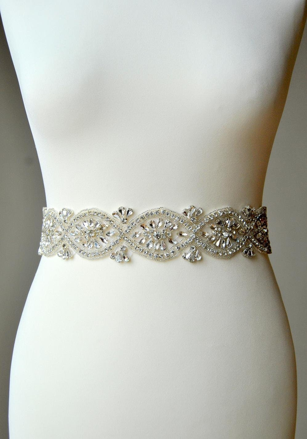 Sale bridal sash wedding dress sash belt rhinestone sash for Wedding dress belt sash