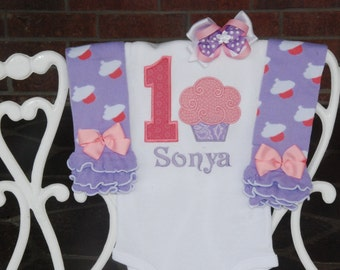 Baby Girl First Birthday Outfit! Cupcake First Birthday Outfit/Cupcake 1st Birthday Outfit/1st Birthday Outfit/Cupcake birthday baby girl
