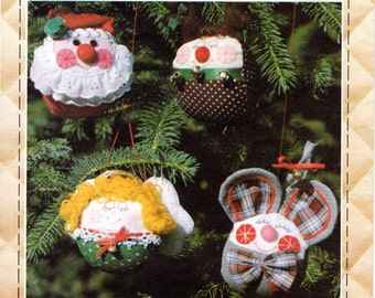 Christmas Ornaments Pattern, Patch Press Roly-Poly Ornaments, Pattern 363A