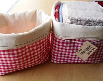 Fabric Basket, Handmade Fabric Bin, Storage Basket, Fabric Organiser,Craft Room Storage, Childs Toy Keeper,Home Organiser,Fabric Storage Bin