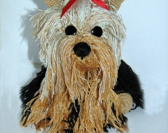 Yorkshire Terrier stuffed animal amigurumi toy, Made-to-order