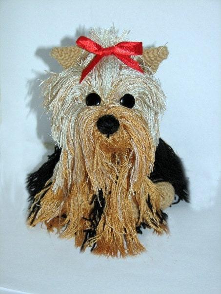 Amigurumi Crochet Yorkie : Yorkshire Terrier stuffed animal amigurumi toy by ...