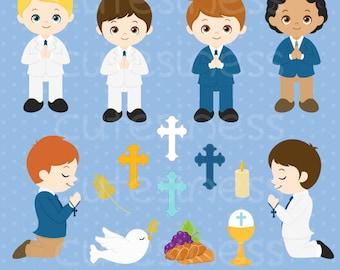 Communion Digital Clipart, Communion Clipart, Communion Clip Art, First Communion Clipart, Communion Boy Clipart