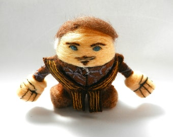 Petyr 'Littlefinger' Baelish - Game of Thrones: 8 cm. / needle felted figure / handmade / FanSci Felts collection #GOTS105