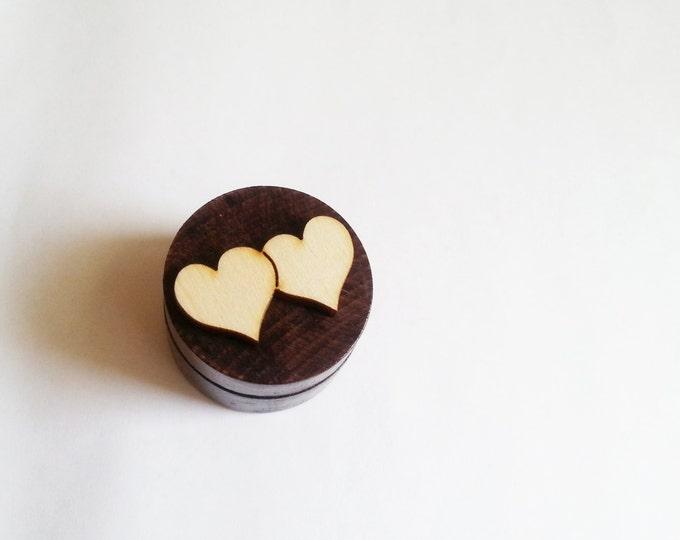 Small brown Engagement ring box, dark brown, wenge small box, simple custom male ring box