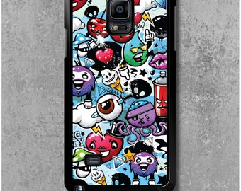 Samsung Galaxy Note 4 Case Graffiti Manga Funny
