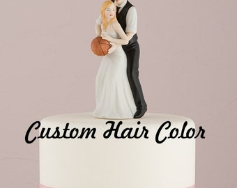 Custom Wedding Cake Topper - Basketball Bride and Groom - Basketball Wedding - Personalized Wedding Cake Topper - Sports Theme Wedding