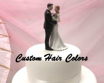 Custom Wedding Cake Topper - Humorous Bride and Groom - Main Squeeze Wedding Cake Topper - Cheeky Couple - Funny Bride and Groom - Cute