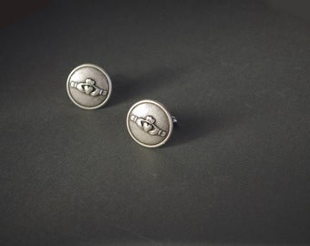Claddagh Cufflinks Claddagh Gifts Claddagh Jewelry Irish Gifts Irish Wedding Cufflinks Irish Heritage Gifts for Him Men's Gifts