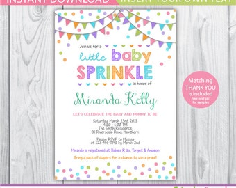 baby sprinkle invitation / baby sprinkle invitation girl / baby sprinkle shower invites / sprinkle baby shower invitation / confetti baby