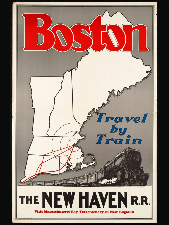 Boston Poster Vintage ... Vintage Train Poster