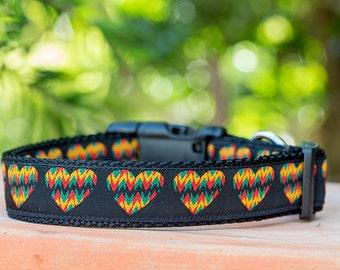 Rastafarian Dog Collar / Dog Collars Australia / XS-XL