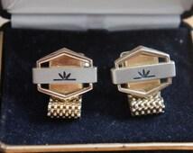 Vintage Mesh Wrap Cufflinks gold tone Hickok made in USA Men's Wedding Formal Wear Groom Jewelry Gentleman Tuxedo BlingW-046
