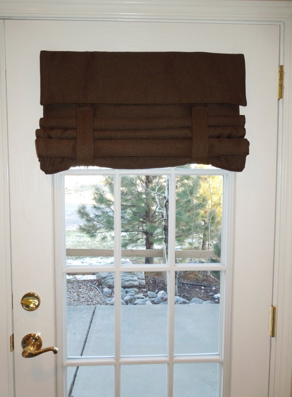 Brown Light Blocking French Door Curtain By Danidesignsco On Etsy