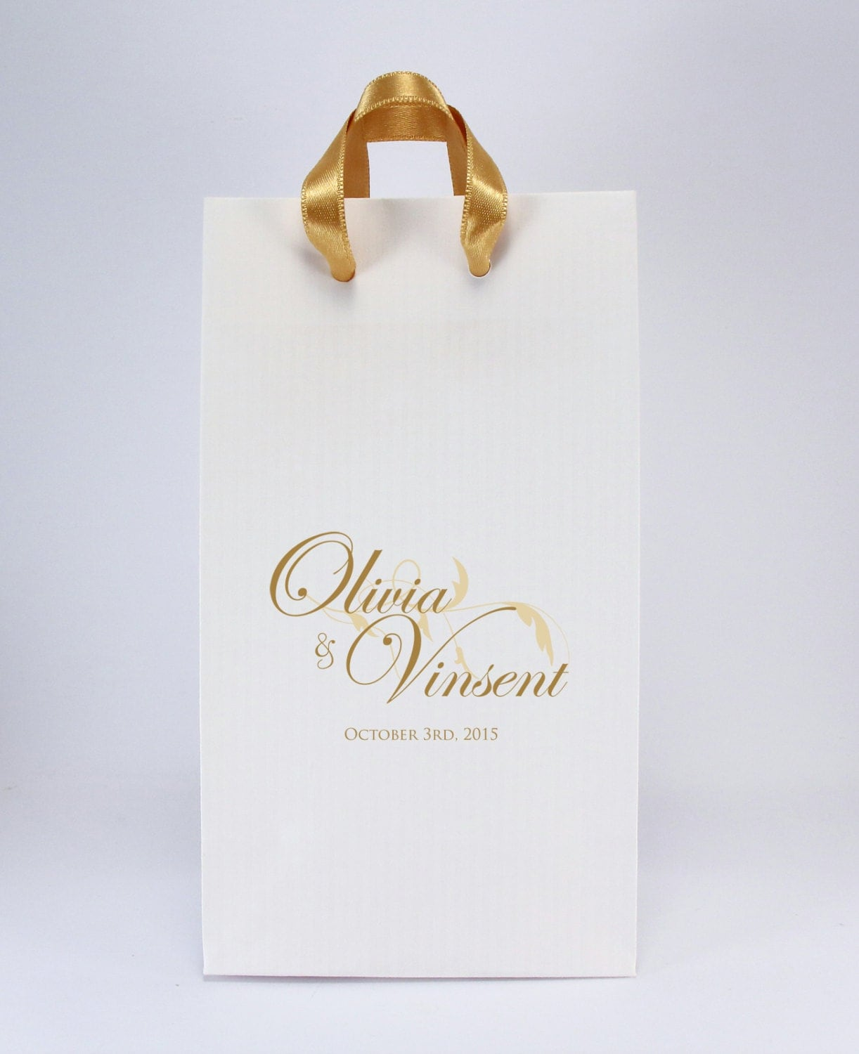 100 printed wedding favor bags with handles personalized for Wedding favor gift bags