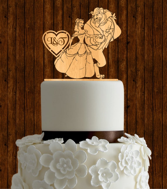 beauty and the beast wedding cake topper rose and the beast wedding cake topper wood wedding cake 11250