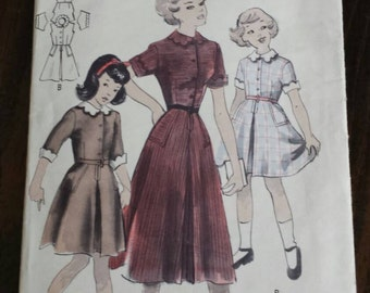 Vintage Butterick Quick and Easy Girls' Dress Pattern 4962