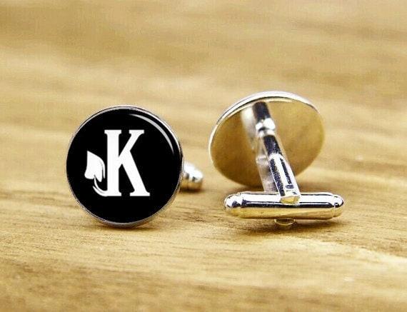 monogram initial cufflinks, groom cuff links, custom fonts, custom wedding cufflinks, round, square cufflinks, tie clip or a matching set
