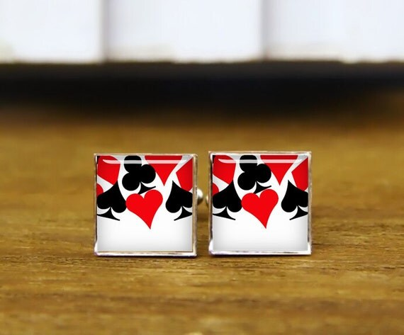 destiny las vegas cufflinks, las vegas cufflinks, poker cuff links, poker, custom wedding cufflink, round, square cufflinks, tie clips, set