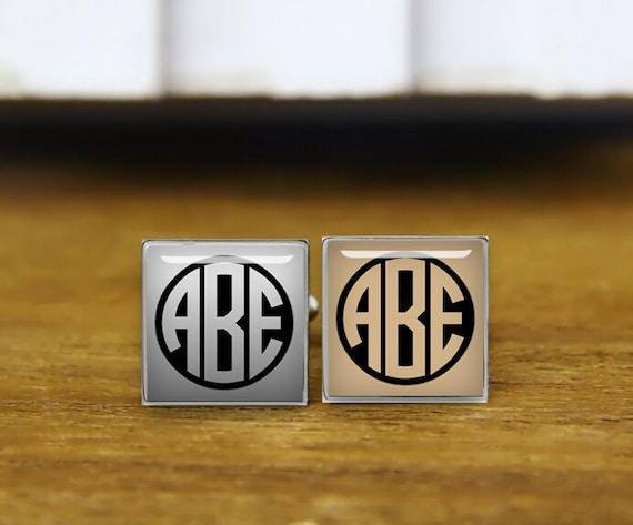 initial cufflinks, monogram cufflinks, 2-3 letters, personalized cufflinks, custom wedding cufflinks, round, square cufflinks, tie clips